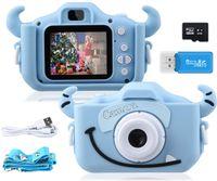 """Kinder Kamera, 2.0""""Display 1080PHD 20MP Digitalkamera für 4-14 Jahre alt mädchen und jungen, Anti-Drop Fotoapparat Kinder für Geburtstagsspielzeug Geschenke mit Weiche Silikonhülle 32GB SD Card"""