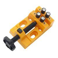 2 Sätze Schraubstock Schraubstock mit Holzgriff Uhrmacher Reparaturwerkzeug