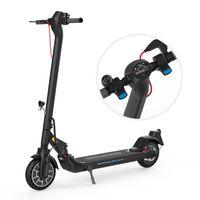 E Scooter mit ABE Klappbar Elektroroller Scooter mit 12/20 Km/h Tempomat bis 25 km Reichweite E Roller aufblasbares Wabenrad LCD-Display Tragbar Vorderen und Hinteren Rückleuchten schwarz