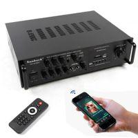 200W HiFi Verstärker Endstufe Power Amp Bluetooth Stereo-Amplifier Audio Stereo Adapter Karaoke FM USB 12V