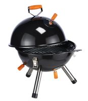 Mini Kugelgrill Holzkohle Picknick Camping Festival Grill Klein Schwarz