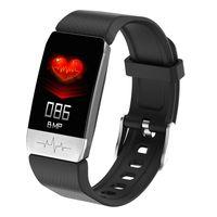 T1S Fitnessuhr 1,14 Zoll Farbbildschirm Sport Intelligenter Fitness-Tracker IP67 Wasserdichte Herzfrequenz Blutdruck Blutdruck-Sauerstoff-Temperatur Immunitaetsueberwachung EKG-Funktion Armbanduhr