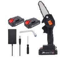 MEROUS-24V Lithiumbatterie tragbare elektrische Säge, wiederaufladbare kleine elektrische Säge, Holzbearbeitung Einhand-Elektrosäge, Gartenholzbearbeitung, 2 Batterieversionen