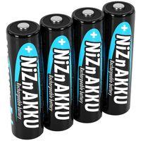 ANSMANN Mignon NiZn Akku AA 1,6V 2500mWh, wiederaufladbare Batterien - 4 Stück