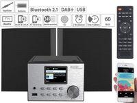 auvisio IRS-500.mini Micro-Stereoanlage mit Webradio, DAB+, FM, CD, Bluetooth, USB, 60 Watt