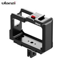 Ulanzi C-ONE R Kamerakäfig aus Aluminiumlegierung Portective Case Montagehalterung mit zwei Kaltschuhhalterungen 1/4 Gewinde Kompatibel mit der Kamera der Insta360 ONE R-Serie