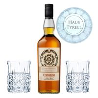 Game of Thrones Haus Tyrell Set, Clynelish Reserve Whisky + 2 gravierte Whiskygläser, Schnaps, Alkohol, 51.2 %, 700 ml