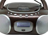 Soundmaster SCD4200BR PLL-UKW Radio DAB+ CD-MP3/USB Festsenderspeicher braun