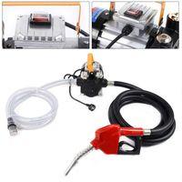 550W Selbstansaugend Ölabsaugpumpe Heizölpumpe Dieselpumpe mit Automatik Pistole + Schlauch 230V 60L/min