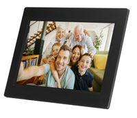 Denver Digitaler Bilderrahmen 25,6cm (10,1 Zoll) Frameo, 8GB Speicher, Touchscreen, Farbe: Schwarz