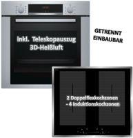 Backofen-Set Bosch HBA3140S0 mit Wolkenstein IF60-2FZW Induktionskochfeld