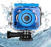 Kinder Underwater Kamera, 1080P HD Digitale Foto- / Videokameras Unterwasser-Actionkamera Wiederaufladbare Action Kamera Unterwasservideokamera wasserdichte Kamera Geburtstagsgeschenk