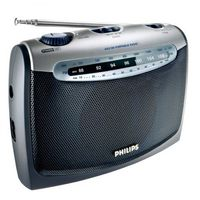 Philips AE2160 tragbares Radio Schwarz / Silber