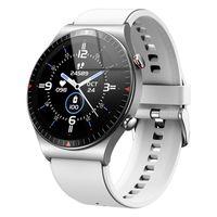 Linuode 2021 Neue Bluetooth Call Smart Watch 4G ROM Männer, die lokale Musik aufzeichnen Fitness Tracker Smartwatch für Huawei GT2 Pro Xiaomi Telefon,Weiß