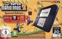 Nintendo 2DS Konsole schwarz inkl. New Super Mario Bros 2