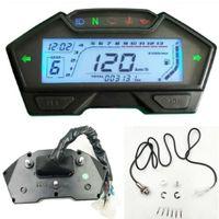 Universal Motorrad Tachometer Kilometerzähler RPM KMH Kraftstoff Ganganzeige 12V