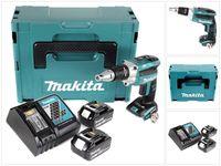 Makita DFS 250 RGJ Akku Trockenbauschrauber 18 V Brushless + 2x Akku 6,0 Ah + Ladegerät + Makpac