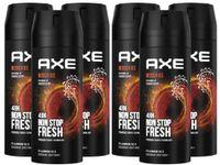 AXE Bodyspray Moschus Deo 6x 150ml Deospray Deodorant Männerdeo ohne Aluminium Herren Männer Men
