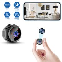 Überwachungskameras mit Bewegungsmelder, Full HD 1080P kleine drahtlose Überwachungskamera Mini Kindermädchen Kamera,mit Nachtsichtfunktion