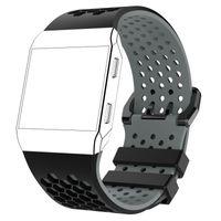 Zweifarbiges Silikon-Sport-Fitness-Armband für die Fitbit Ionic Smart Watch