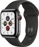 Apple Watch Series 5 GPS + Cellular 40mm Edelstahl Sportband Black