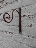 Versand Dekorativer Wandhaken Laternenhaken Blumenhaken 30x28cm anthrazit incl