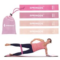 4er Set Fitnessbänder Trainingsband Fitnessband Gymnastik Yoga Pilates Pink Rosa