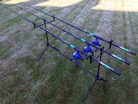 3 Angelruten 3,00M 3 Angelrollen Rod Pod Allround Angelset Forelle Barsch Zander