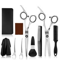10PCS Friseur Haarscheren Effilierschere Friseurschere Haarschneiden Set