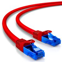 deleyCON 10m CAT.6 Ethernet Gigabit Lan Netzwerkkabel RJ45 CAT6 Kabel Patchkabel U/UTP Kompatibel zu CAT.5 CAT.5e CAT.6a Cat.7 - Rot