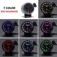 2 Zoll / 52 mm 7-Farben-LED-Auto-Drehzahlmesser-Messgerät Zeiger Universalmesser