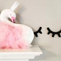Exquisite Schwan Design Baby Kinder gefüllt Plüsch Wurf Kissen Hause Dekor rosa 30cm