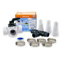 Intex Bypass-Set für 38mm Schwimmbadschlauch 3-Wege-Ventil, T-Stück, Schlauchtüllen, Schlauchklemmen Teflonband