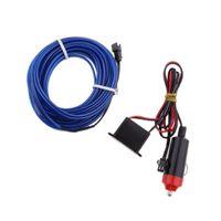 1 Stück Auto EL Licht Streifen , 1 Stück Zigarettenanzünder Ladegerät , 1 Stück 12V Wechselrichter 5M Tiefes Blau