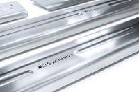 Exclusive Design V2A Einstiegsleisten für VW T-Cross Typ C1 Edelstahl V2A 2018-, Farbe:Silber