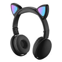 Laptop Cat Ear Bluetooth Drahtlose Kopfh/örer mit LED-Licht Lila Gaming Headset Katzenohren mit Mikrofon Over Ear Headset Noise Cancelling Faltbar f/ür Frauen f/ür PC IOS Android