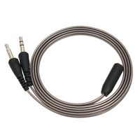 Docooler 1 m Kopfhörer Mikrofonkabel Adapterkabel mit 3,5 mm Audio Y Splitter, 1 Buchse zu 2 Stecker Konverter für Kopfhörer auf Desktop-Laptop PC