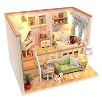 T TOOYFUL 1//24 Miniatur Dollhouse DIY Puppenhaus Teehaus Modell mit M/öbel und LED Lichter perfekt als Geburtstag Weihnachts Geschenk
