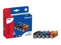 Pelikan P29 Promo pack - 5er-Pack - Schwarz, Gelb, Cyan, Magenta - Tintenpatrone (entspricht: Canon PGI-550PGBK XL, Canon CLI-551Y, Canon CLI-551BK, Canon CLI-551C, Canon CLI-551M ) - für Canon PIXMA iP8750, iX6850, MG5550, MG5650, MG5655, MG6450, MG6650,