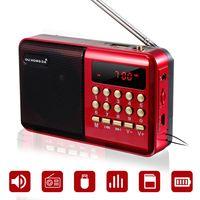 Tragbarer FM Radio Kleines Radio mit Lautsprecher, Kopfhörerbuchse MP3 Player Matteriebetrieben mit USB-Ladekabel