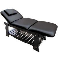 Massageliege Holz Behandlungsliege Kosmetikliege Massagebank Schwarz