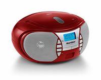 Karcher RR 5025-R tragbares CD Radio (CD-Player, UKW Radio, Batterie/Netzbetrieb, AUX-In, Kopfhöreranschluss) rot