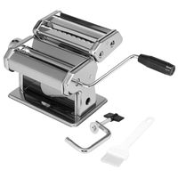 bremermann Nudelmaschine Edelstahl hochglanz - für Spaghetti, Pasta und Lasagne (7 Stufen), Pastamaschine, Pastamaker