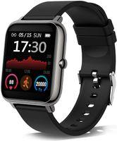 Smartwatch, Fitness Tracker mit Blutdruckmessung Fitness Armbanduhr mit Pulsuhr Schlafmonitor IP67 Wasserdicht Sportuhr Schrittzähler für Android und iOS Smart Watch für Damen Herren