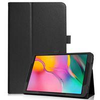 Hülle für Samsung Galaxy Tab A 10.1 SM-T510 10.1 Zoll Smart Cover Etui mit Standfunktion Schwarz