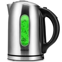 Monzana Wasserkocher mit Temperatureinstellung 60-100 Grad Edelstahl 1,7L LED Farbwechsel BPA Frei 2200W Küche Teekocher
