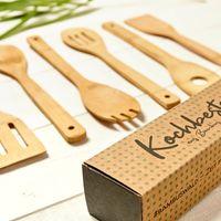 Holz Löffel Utensilien Set Küche Kochen Bambus Zubehör Holz Pfannenwender Neu