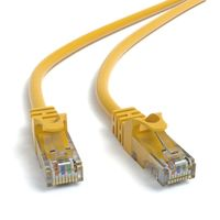 JAMEGA - 10m CAT.6 Netzwerkkabel (RJ45) Patchkabel Ethernet Lan  1Gbit/s   250MHz   kompatibel zu CAT.5 / CAT.5e / CAT.6   gelb