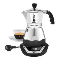 BIALETTI ALUMINIUM ESPRESSOKOCHER für 6 Tassen Elektrisch Espresso Maker MOKA
