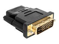 DeLOCK Adapter DVI 24+1 pin male > HDMI female - Videoanschluß - HDMI / DVI - HDMI, 19-polig (W) - DVI-D (M)